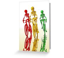 Bones on bikes Greeting Card