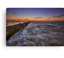 Bar Beach Breakwall at Dusk Canvas Print