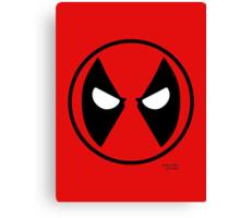 Hero Circles - Deadpool Canvas Print