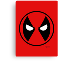Hero Circles - Deadpool Canvas Print