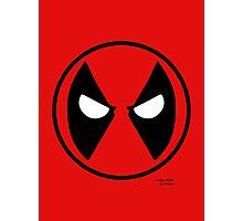Hero Circles - Deadpool Photographic Print
