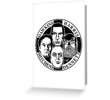 Four Horsemen: New Atheists by Tai's Tees Greeting Card