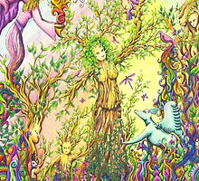 Tree woman, we all come from the Earth by gwendavies