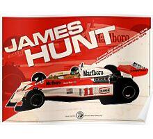 James Hunt - F1 1976 Poster