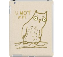 Confused Owl iPad Case/Skin