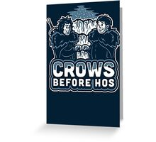 Crows before Hos Greeting Card