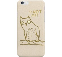 Confused Owl iPhone Case/Skin