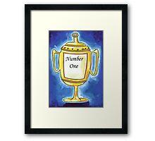 Trophy - Number One... Framed Print