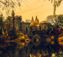Autumn Reflections at Belvedere Castle Sticker