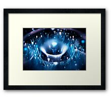 Blue Fountain Framed Print
