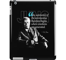 A Quote from Carl Gustav Jung Quote #38 of 50 available iPad Case/Skin