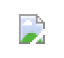 Broken Internet Image Icon Sticker