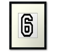 TEAM SPORTS, NUMBER 6, SIX, SIXTH, Competition Framed Print