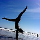 Handstand on the Beach by Christina Tang