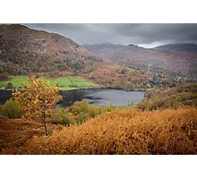 Hilltop views over Rydal Water, Lake District. Photographic Print