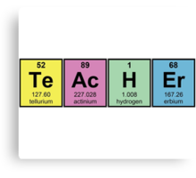 Science Teacher Chemical Elements Canvas Print