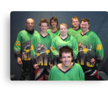 Senior B team Winter 2007 season Canvas Print