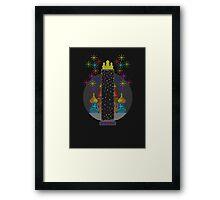 Tetris Tower Framed Print