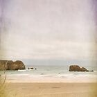 Deserted beach at Perranporth by Lissywitch