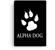 Alpha Dog paw print  Canvas Print