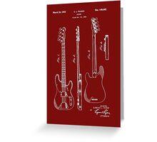 Fender Bass Guitar Patent-1953 Greeting Card