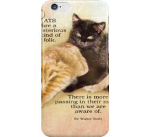 mysterious cats-inspirational iPhone Case/Skin