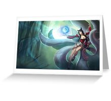 Ahri League of Legends Lol Greeting Card