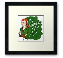 Tauriel - My Girlfriend is an Elf Framed Print