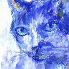Eye Contact (pastel) by Niki Hilsabeck