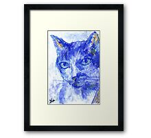 Eye Contact (pastel) Framed Print