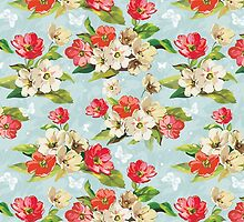 Cool Colorful Stylish Vintage Floral Pattern by sale