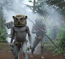 Asaro Mudmen, Papua New Guinea by John Douglas