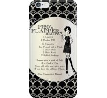 Gatsby Girl 1920s Recipe for Flapper  iPhone Case/Skin