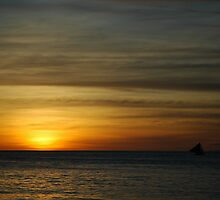 Boracay Sunset 1 by Suze Chalmers