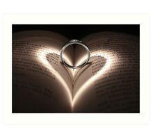 Love Cast Upon Words Art Print