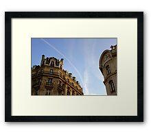 Jet trails in Paris Framed Print