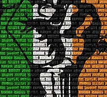 Irish Freedom Fist Flag  by Sookiesooker