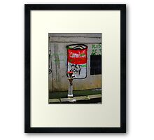 campbells soup Framed Print