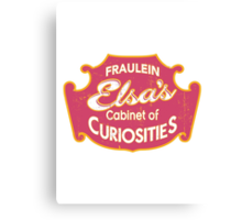 Fraulein Elsa's Cabinet Of Curiosities Freak Show Canvas Print