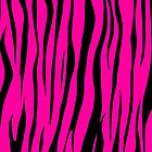 Shocking Pink Zebra Print  by Sookiesooker