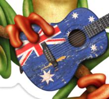 Tree Frog Playing Australian Guitar Sticker