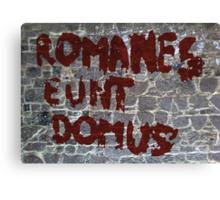 Romanes eunt domus Canvas Print