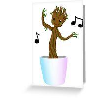 Dancing Baby Groot! Greeting Card