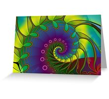 Hippie Stained Glass Greeting Card