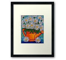 Crazy for Daisies Framed Print