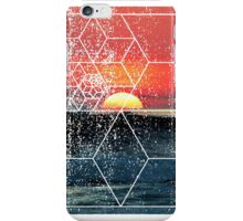 Nature and Geometry - Sunset at Sea Polygonal Design iPhone Case/Skin