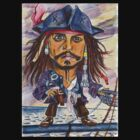Johnny Depp aka Captain Jack Sparrow by andrea v