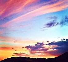 Colorful Sunset ~ digital paint effect  by Art4ThGlryOfGod
