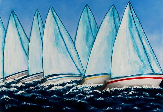 Regatta Blue by LisaLorenz
