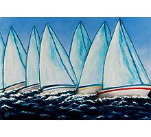 Regatta Blue Photographic Print